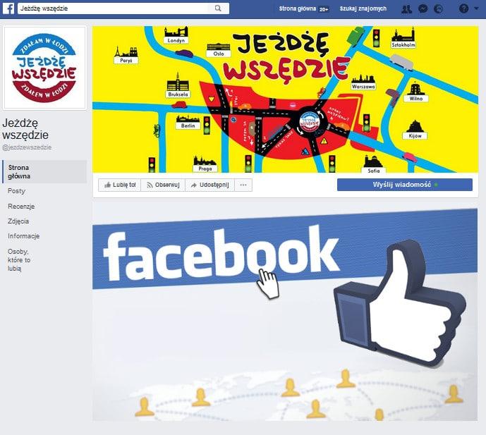 Facebook - Jeżdżę wszędzie - WORD w Łodzi - Polub nas